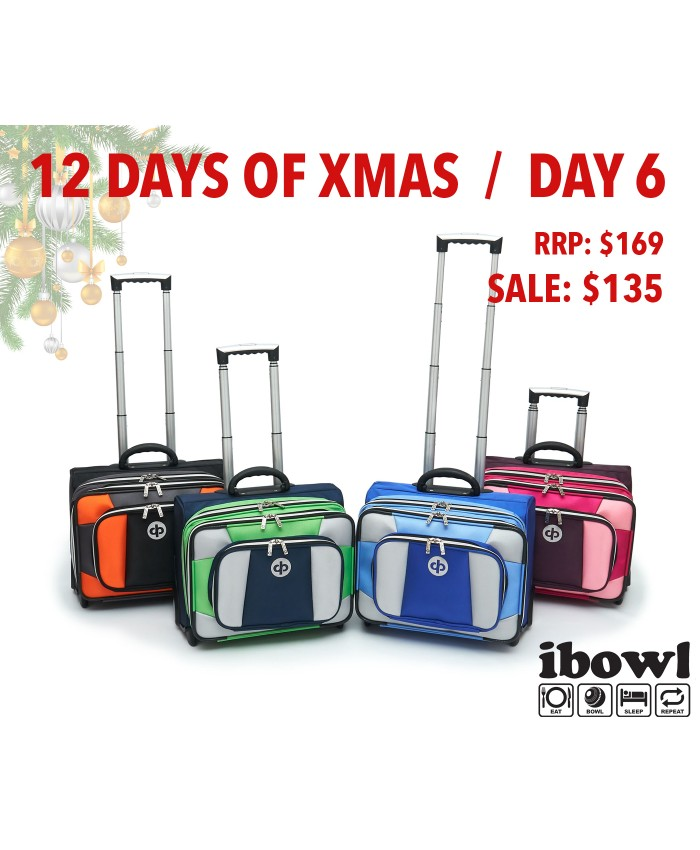 DAY 6 - DRAKES PRIDE LOW ROLLER LAWN BOWLS TROLLEY BAG