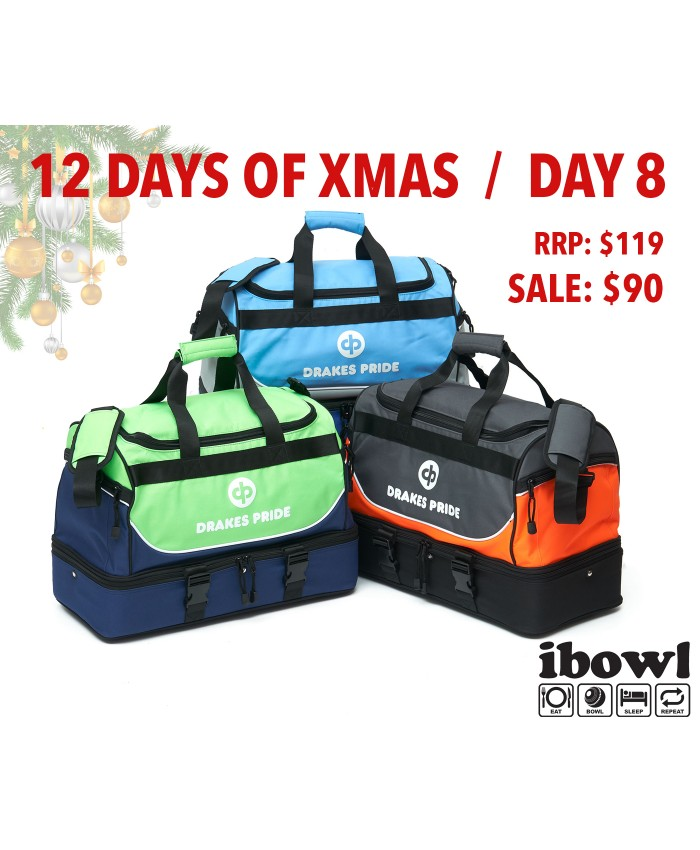 "DAY 8 - DRAKES PRIDE ""NEW & IMPROVED"" PRO MAXI LAWN BOWLS BAG Incl INSERT BAGS"