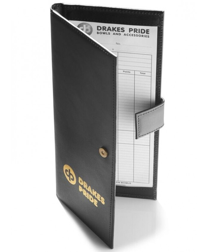 DRAKES PRIDE LEATHER RIGID SCORECARD HOLDER
