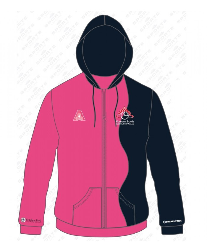 WOMEN'S BOWLS NSW OFFICIAL SUBLIMATED HOODIE