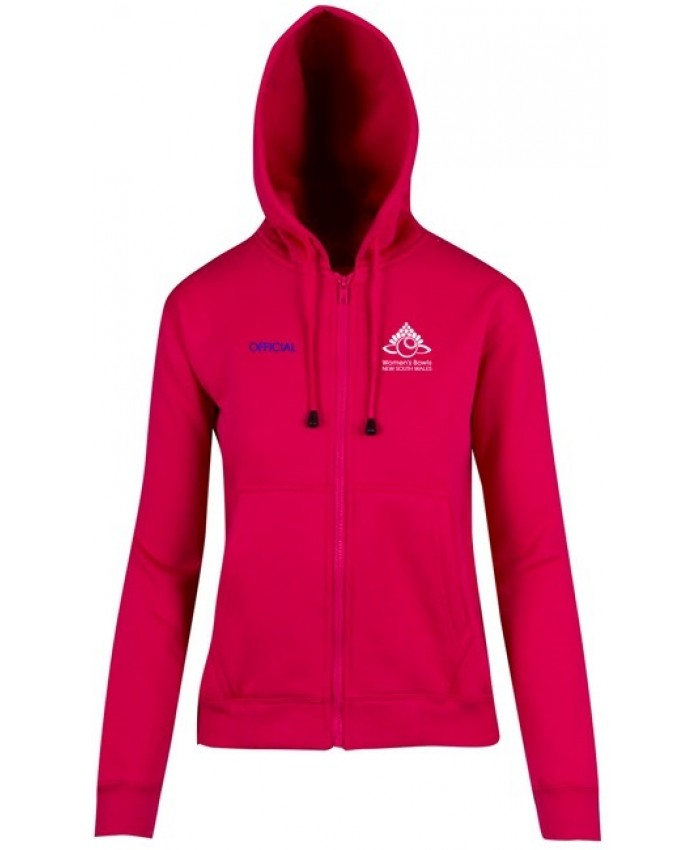 WOMEN'S BOWLS NSW OFFICIAL FLEECE HOODIE