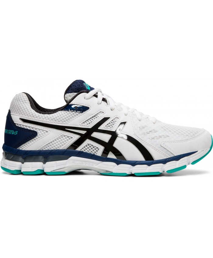 ASICS GEL-RINK SCORCHER 4 (4E) MENS BOWLS SHOES WHITE/BLACK