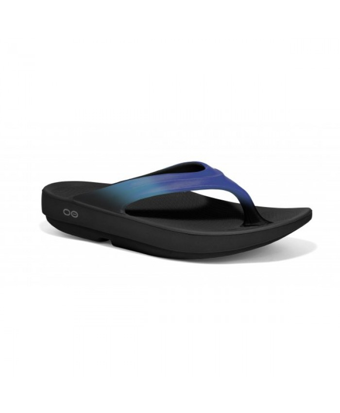 OOFOS OOLALA LUXE LAWN BOWLS THONGS BLUE JAY