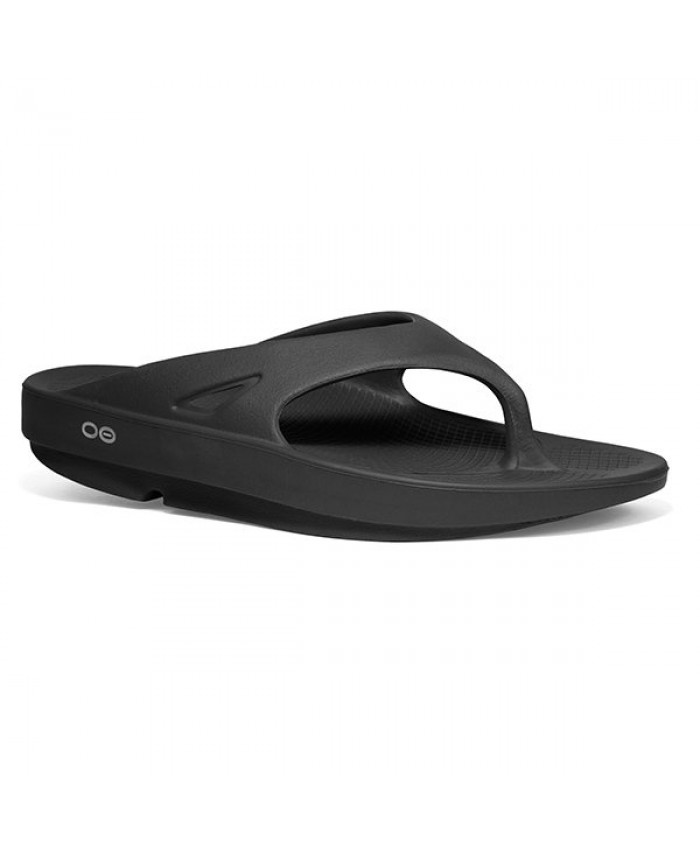 OOFOS OORIGINAL LAWN BOWLS THONGS BLACK