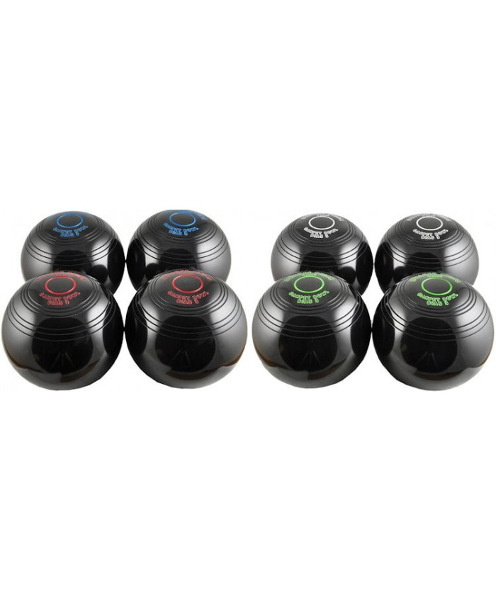 DRAKES PRIDE INDOOR CARPET BOWLS - 8 BOWLS BLACK